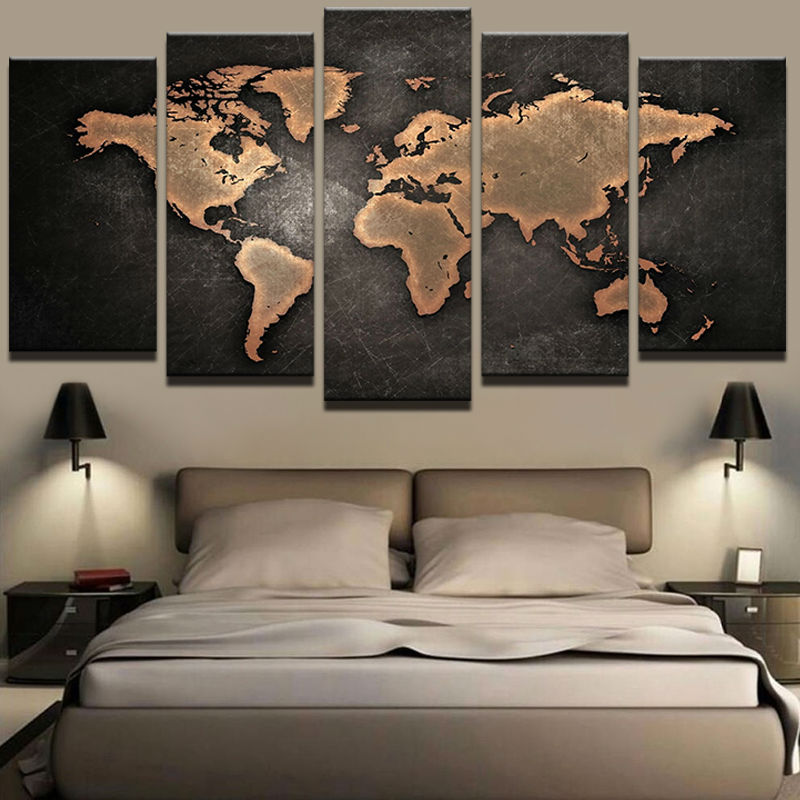 World map multi canvas art gumiabroncs Image collections